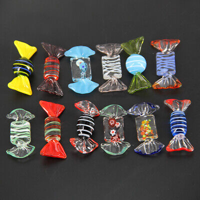 12pcs Vintage Murano Glass Sweets Candy Wedding Party Christmas Home DIY Decor