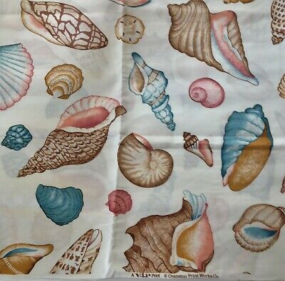 Pastel Conch Seashells Floral Flowers in Vase large Tapestry Wall Hanging Panel