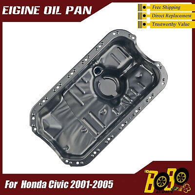 NEW Steel Engine Oil Pan For Honda Civic Base L4-1.7L 2001 2002 2003 2004 2005