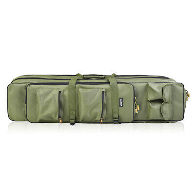 3Layer 80//100cm Angeltasche Rucksack Angelrute Reel Tackle Carrier Bag DHL R8P0