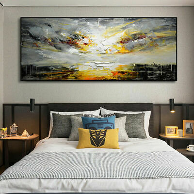 Large Modern Hand-painted Scenery oil painting on canvas Color art UNframe