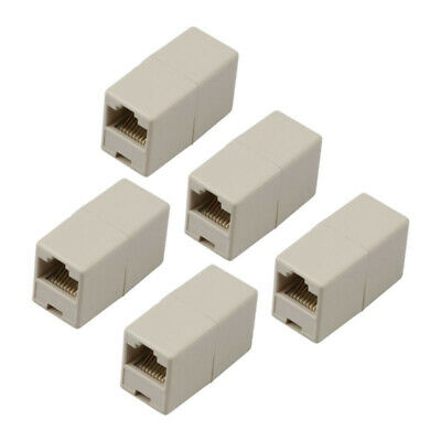 10x RJ45 CAT5 Acoplador Red Ethernet Lan Cable Conector Adaptador de Enchufe