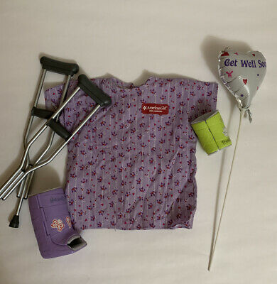 """Authentic 18/"""" AMERICAN GIRL DOLL HOSPITAL GOWN CLOTHES NIP"""