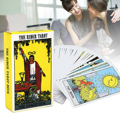Tarot Cards Deck Vintage Antique High Quality Colorful Card Box Party Game 78 US