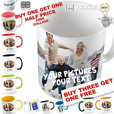 Personalised Mug Cup Text Or Pictures Christmas Gift Birthday Xmas Cups