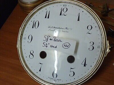 Good Antique French Clock Ribbed Bezel-Convex Dial  & Convex Glass   (Nw)