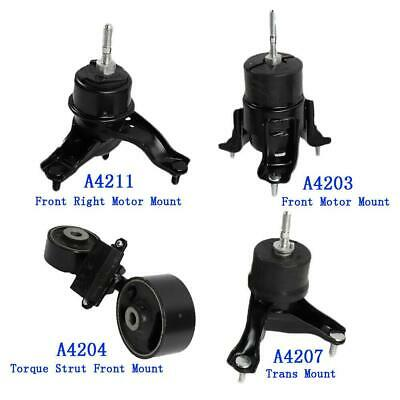 ECCPP Engine Motor and Trans Mounts Engine Mounts Engine Mount A4203 A4211 A4204 A4207 Set of 4 Fit For Toyota Camry 2002 2003 2004 2005 2006 2.4L