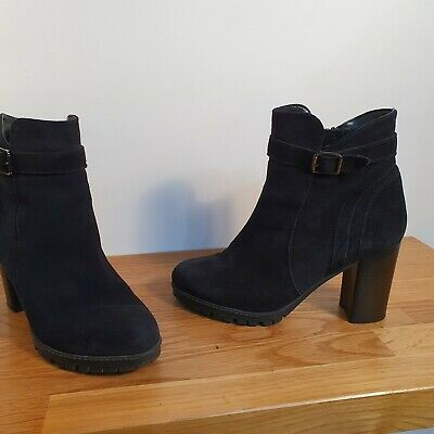 RRP £150 CARVELA KG SIZE 4 OR 8 BLACK PORTION REAL LEATHER FLAT ANKLE BOOTS BNWB