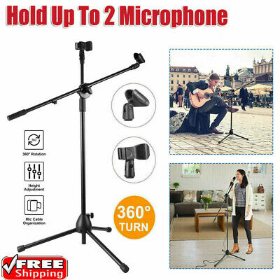 Professional Boom Microphone 360° Adjustable Mic Stand Holder With Free Clips UK