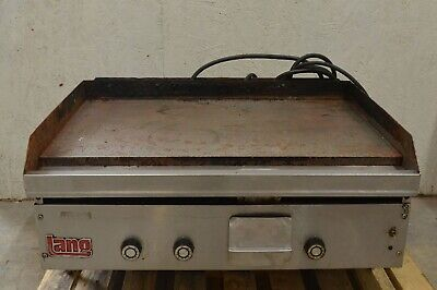 """36"""" Lang 3 Burner Natural Gas Griddle With Electric Start & Thermostats 115VAC"""