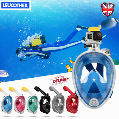 2020 New Anti Fog Full Face Snorkel Mask Swimming Dive Scuba Goggles For GoPro