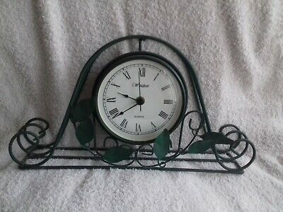 mantel clock metal with decorative leads