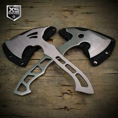 """10"""" Full Tang TOMAHAWK Throwing Axe HATCHET Stainless Steel HIKING Camping Axe"""