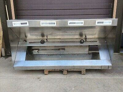 9' Foot Exhaust Hood Vent Commercial Restaurant Kitchen Stainless Steel Used