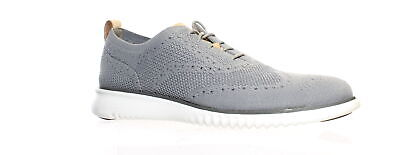 Cole Haan Mens 2.Zerogrand Stitchlite Ironstone/Magnet/Optic White Wing Tips