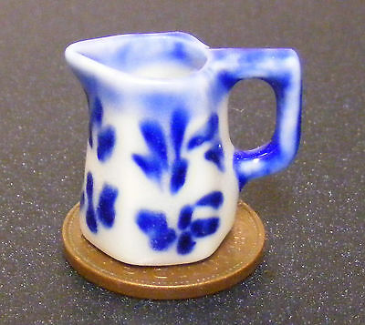 Dolls House Ceramic Two Tone Jug Set Kitchen Dining Room Ornament Accessory