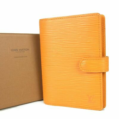 Auth LOUIS VUITTON R2005H Epi Agenda PM Daily Planner Cover w/Box 13817bkac