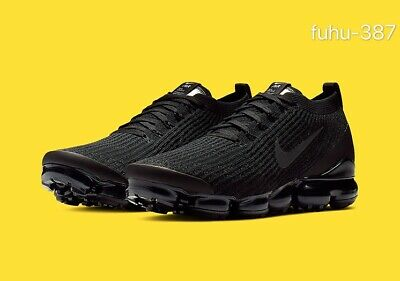 Nike Air VaporMax Flyknit 3 Men's Running Trainers Shoes Sneakers - Black