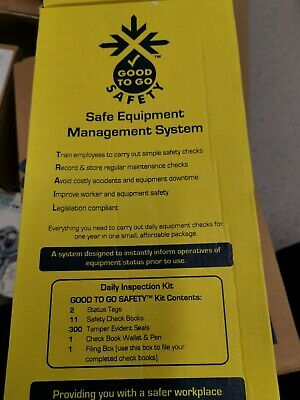 Good To Go Easy Safety Inspection Record Check Book Fixed Scaffold 51319