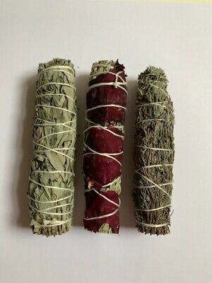 californian sage smudge stick set with Rose sage and Lavender Antibacterial