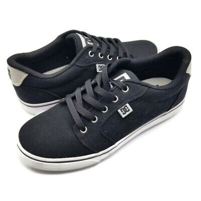 DC Anvil 303190 Mens Gray Canvas Athletic Lace Up Skate Shoes