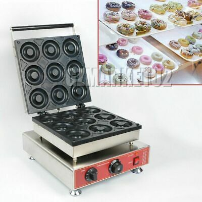 9 Grids Mini Donut Machine Nonstick Electric Cake Baker Doughnut Maker 110V 220V