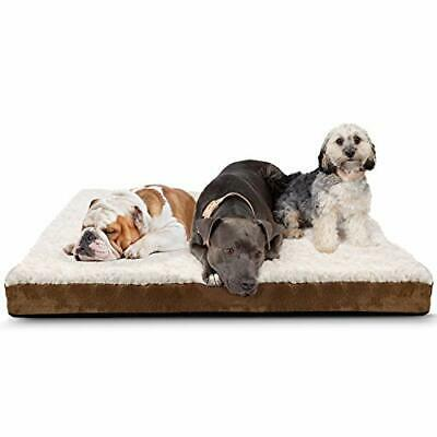 Orthopedic Dog Bed Deluxe Foam Lounger Cushion Crate Soft Fuzzy Bolster Bedding