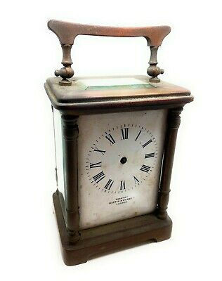 Old Brass Carriage Clock For Parts Good Dial and Glass Mappin & Webb