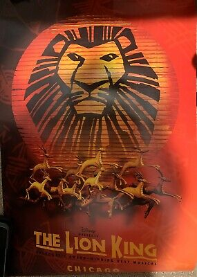 The Lion King Original Cast Signed Broadway Musical Poster Disney Presents 85 00 Picclick