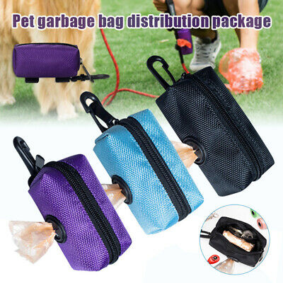 Portable Outdoor Walking Pet Puppy Dog Cat Poops Waste Bag Dispenser Poo Holder