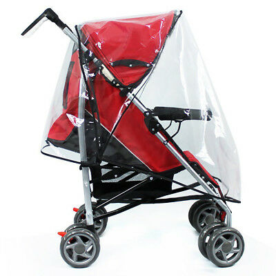 XL Strong Baby Buggy Pram Clear Raincover Pushchair Stroller Fly Insect Protecto