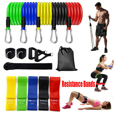 Resistance Workout Bands Loop Set CrossFit Fitness Yoga Booty Leg Exercise Band