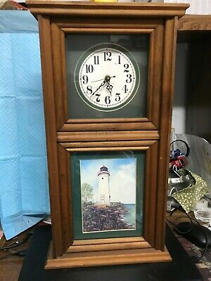 WALL CLOCK WITH PRINT BY SHERRY MASTERS----WORKING------------kb