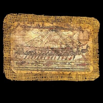Ancient Egyptian Hand Painted Papyrus Paper. 664-332 Bc (2)
