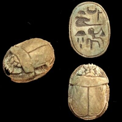 Ancient Egyptian Scarab Beetle, Late Period 664 - 332 Bc (3)