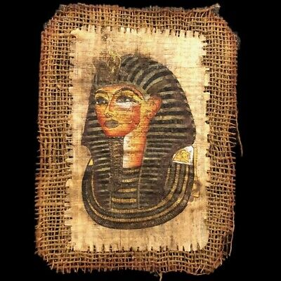 Ancient Egyptian Hand Painted Papyrus Paper. 664-332 Bc (4)