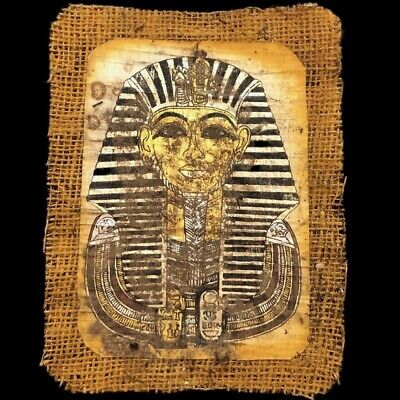 Ancient Egyptian Hand Painted Papyrus Paper. 664-332 Bc (5)