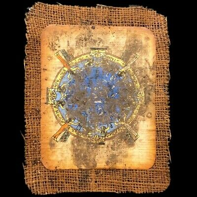 Ancient Egyptian Hand Painted Papyrus Paper. 664-332 Bc (6)