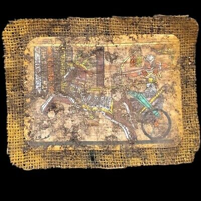 Ancient Egyptian Hand Painted Papyrus Paper. 664-332 Bc (9)