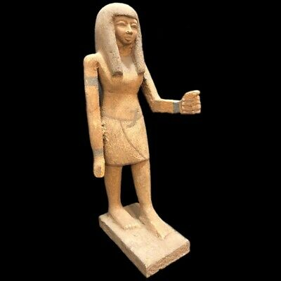 Beautiful Ancient Egyptian Wooden Statue 300 Bc (3) Large !!!!!