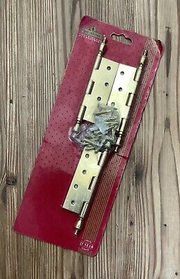House of Rothley - set of 3 ornate brass door hinges.
