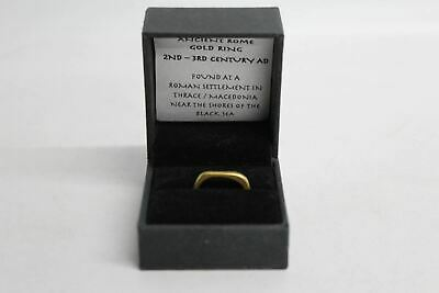 Ancient Rome Gold Finger Ring From 2nd-3rd Century AD Macedonia Size UK M