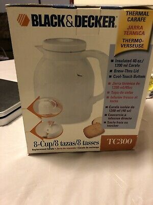 Black and Decker White 8 Cup Replacement Thermal Carafe Tc300