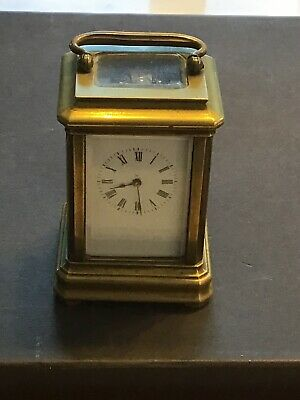 A Small Antique Brass Carriage Clock