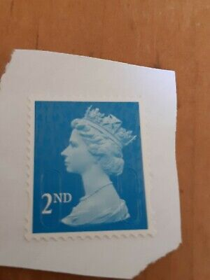 100 x 2nd Class Security Stamps Unfranked ON Piece F/V £65.00 BLUE