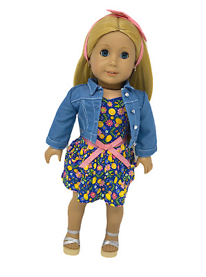"""American Girl Doll  Pleasant Co 18"""" Blond Hair Blue Eyes New Clothes & Wig EUC"""
