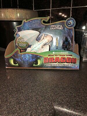 How to Train Your Dragon Hiccup & Lightfury Action Figure Set *RARE BLUE STRIPES
