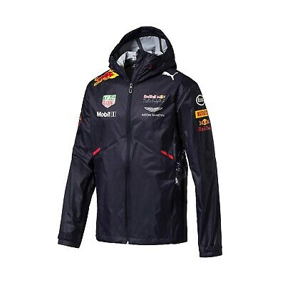 JACKET Rain Coat Red Bull Racing Formula One 2017 Mens Raincoat PUMA F1 NEW