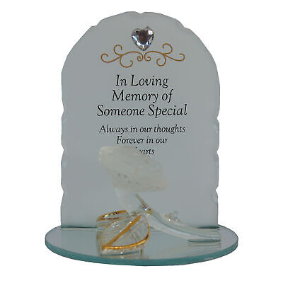 Thoughts Of You Cristal Memorial Ornamento Con Rosa - Someone Especial