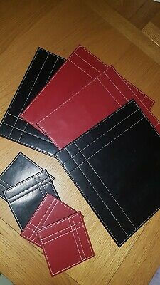 Table Mats And Coasters x4  reversible